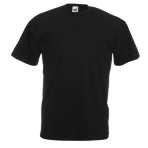 Koszulka czarna Fruit Of The Loom