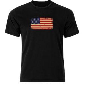 koszulka z nadrukiem flaga USA