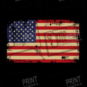 koszulka z nadrukiem flaga USA tlo