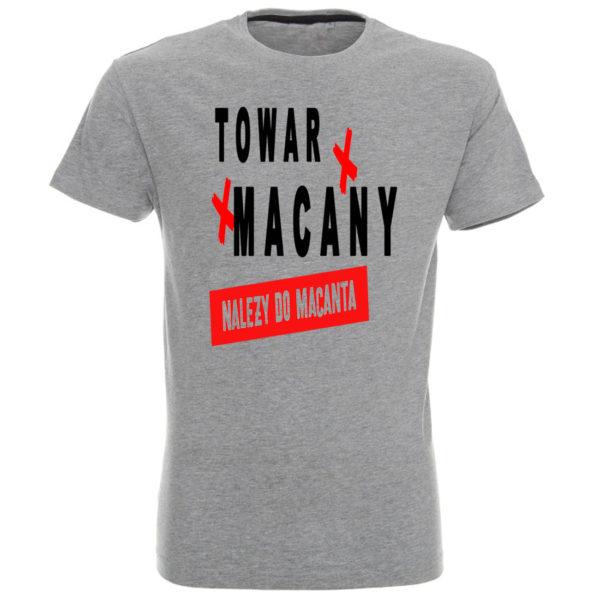 Koszulka z nadrukiem Towar macany należy do macanta