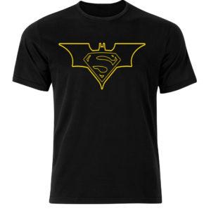 Superman Batman koszulka z nadrukiem czarna