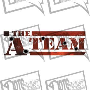 koszulka z nadrukiem drużyna A tło