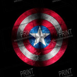 koszulka z nadrukiem kapitan ameryka tło