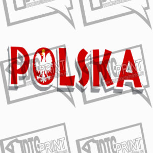 koszulka z nadrukiem polska godło tło