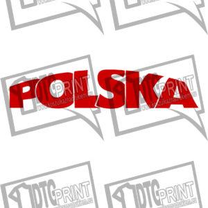 koszulka z nadrukiem polska tło