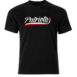 koszulka z znadrukiem biały patriota