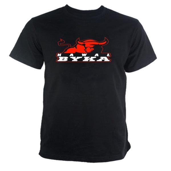 Koszulka z nadrukiem KAWAŁ BYKA BYK