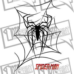 koszulka z nadrukiem Spider-Man pajęczyna tło