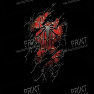 koszulka z nadrukiem Spider-Man tło kolor
