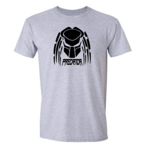 koszulka z nadrukiem predator czarne logo