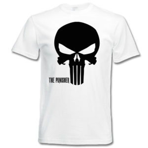 t-shirt z nadrukiem punisher