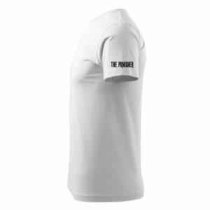 koszulka z nadrukiem punisher bok biała