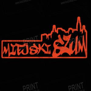 koszulka z nadrukiem miejski szum logo czerwone