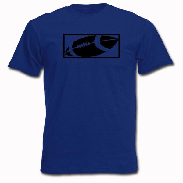 koszulka z nadrukiem piłka futbol amerykanski niebieska