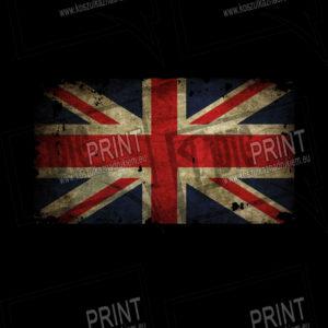 koszulka z nadrukiem flaga Anglii tło
