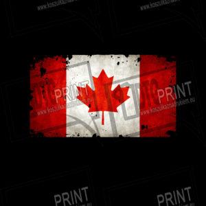 koszulka z nadrukiem flaga Kanada tło
