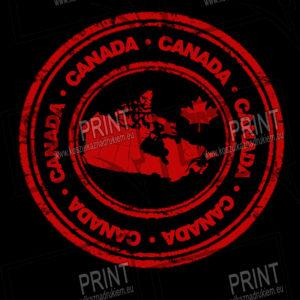 koszulka z nadrukiem flaga Kanada terytorium tło