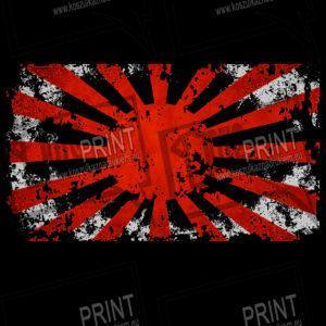 koszulka z nadrukiem kamikaze tło