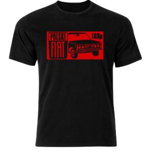 Fiat 125p t-shirt męski z nadrukiem