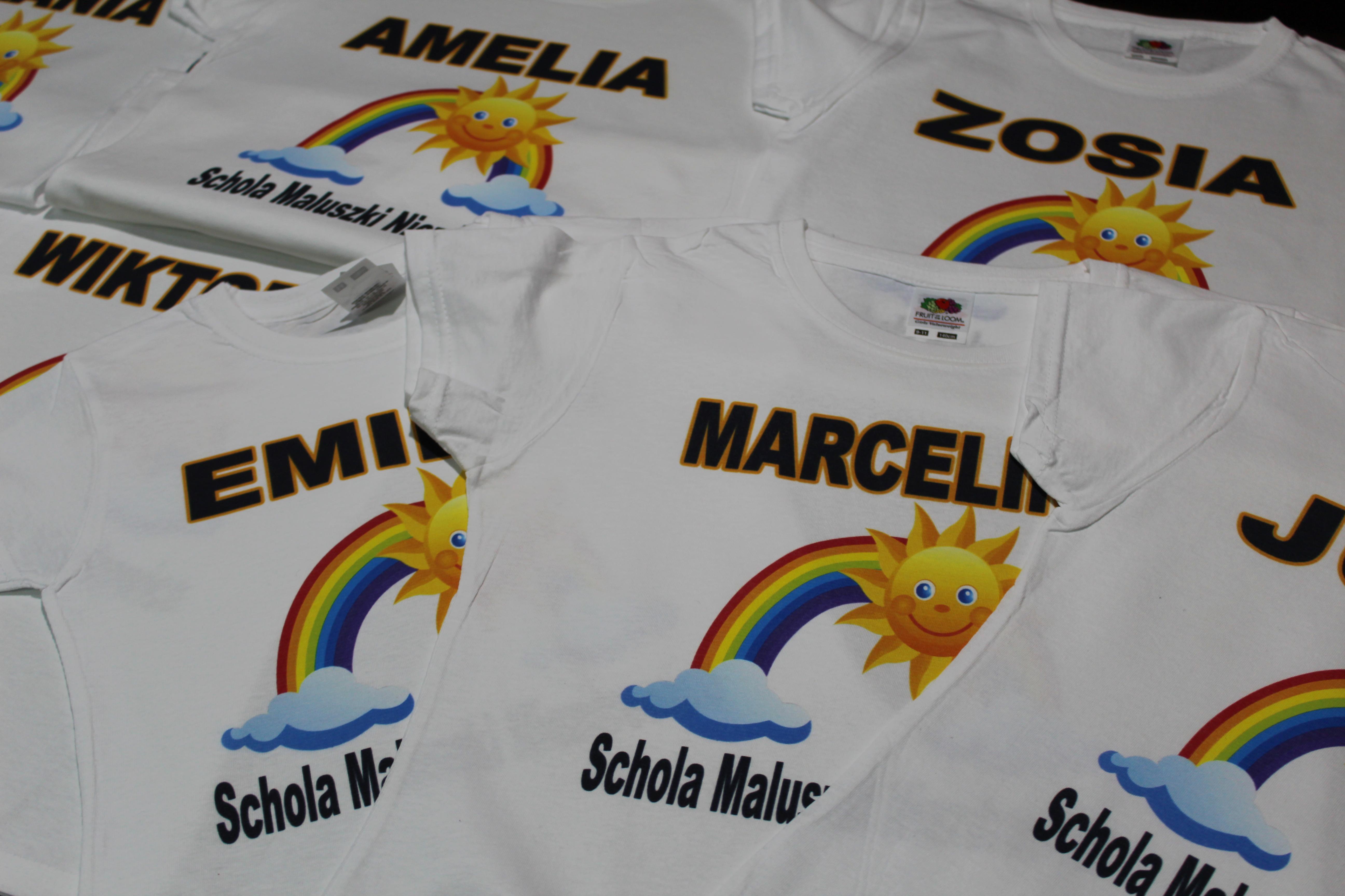 Koszulki dla dzieci z nadrukiem wesołe nadruki