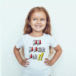 Koszulki dla dzieci. Koszulka dla dzieci z nadrukiem Mama ma zawsze rację