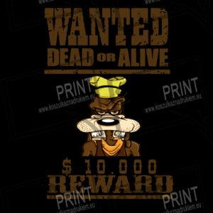 Koszulka z nadrukiem wanted dead or alive goofy