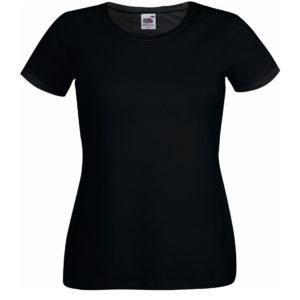koszulka damska czarna fruit of the loom