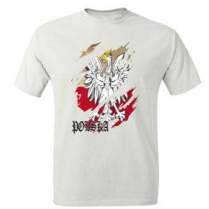 Koszulka patriotyczna. Koszulka męska z nadrukiem orła Polska