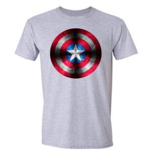 Koszulka film, filmowy męski t-shirt z nadrukiem Kapitan Ameryka