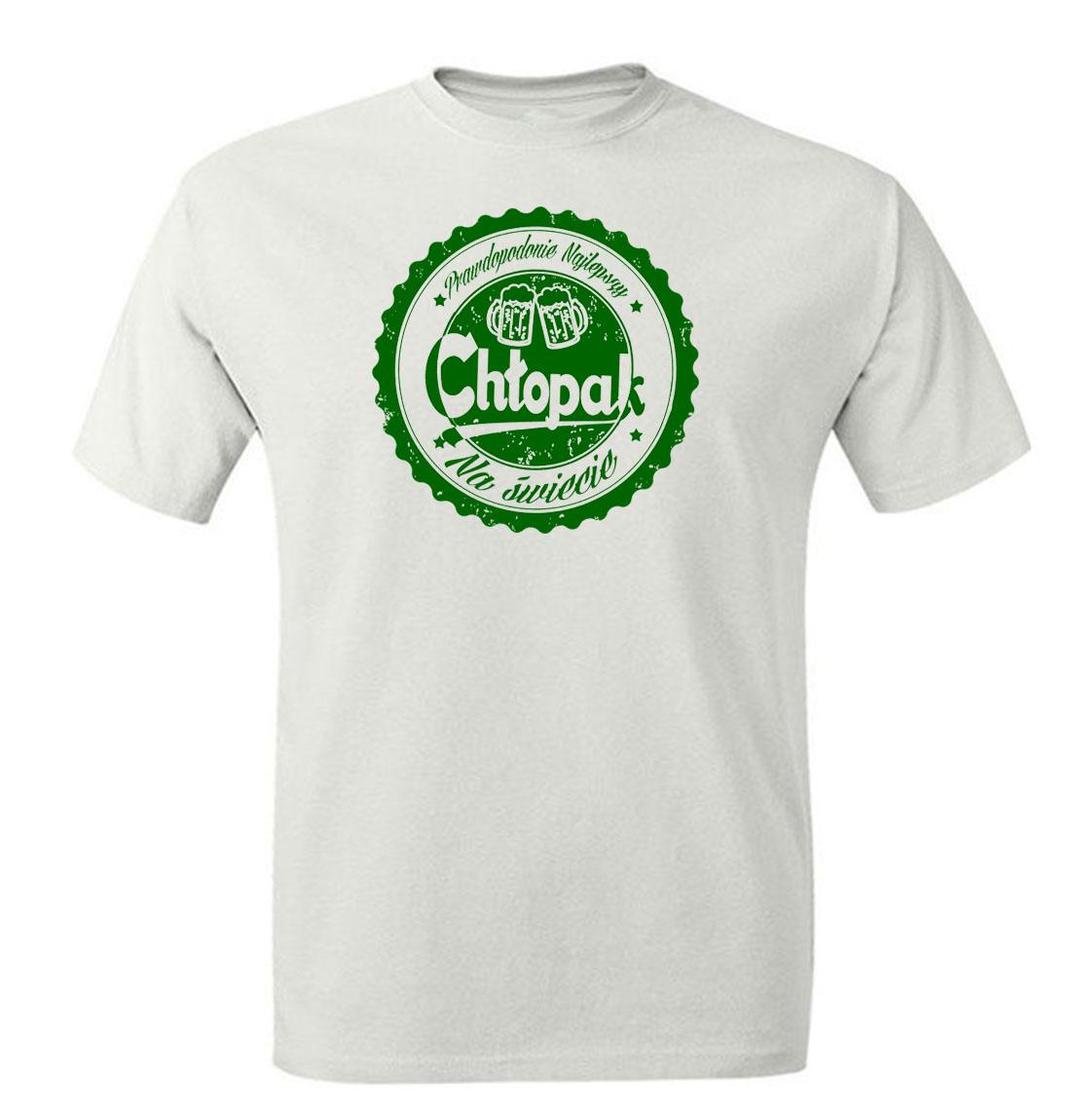 6938a325f Śmieszne koszulki. Koszulka z nadrukiem prawdopodobnie najlepszy chłopak na  świecie