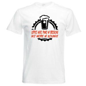 Śmieszne koszulki. Koszulka lepiej mieć PIWO w brzuchu niż wodę w kolanie
