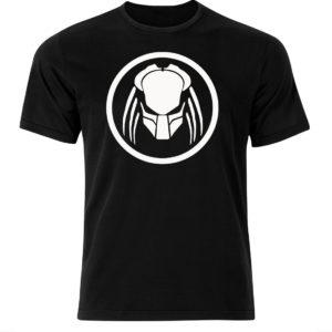 Koszulka film, T-shirt męski z białym nadrukiem Predator
