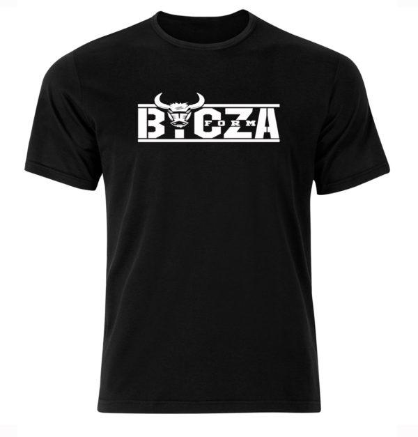 Koszulka męska, treningowa na siłownię z nadrukiem BYCZA FORMA