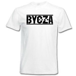 Koszulka na siłownię z nadrukiem BYCZA FORMA, koszulka treningowa