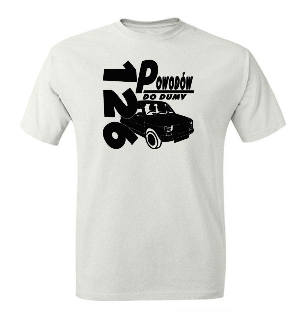 Koszulka retro PRL z nadrukiem FIAT 126p