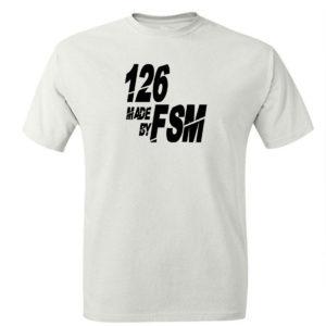 T-shirt męski z nadrukiem fiat 126p Maluch made by FSM, koszulka retro PRL