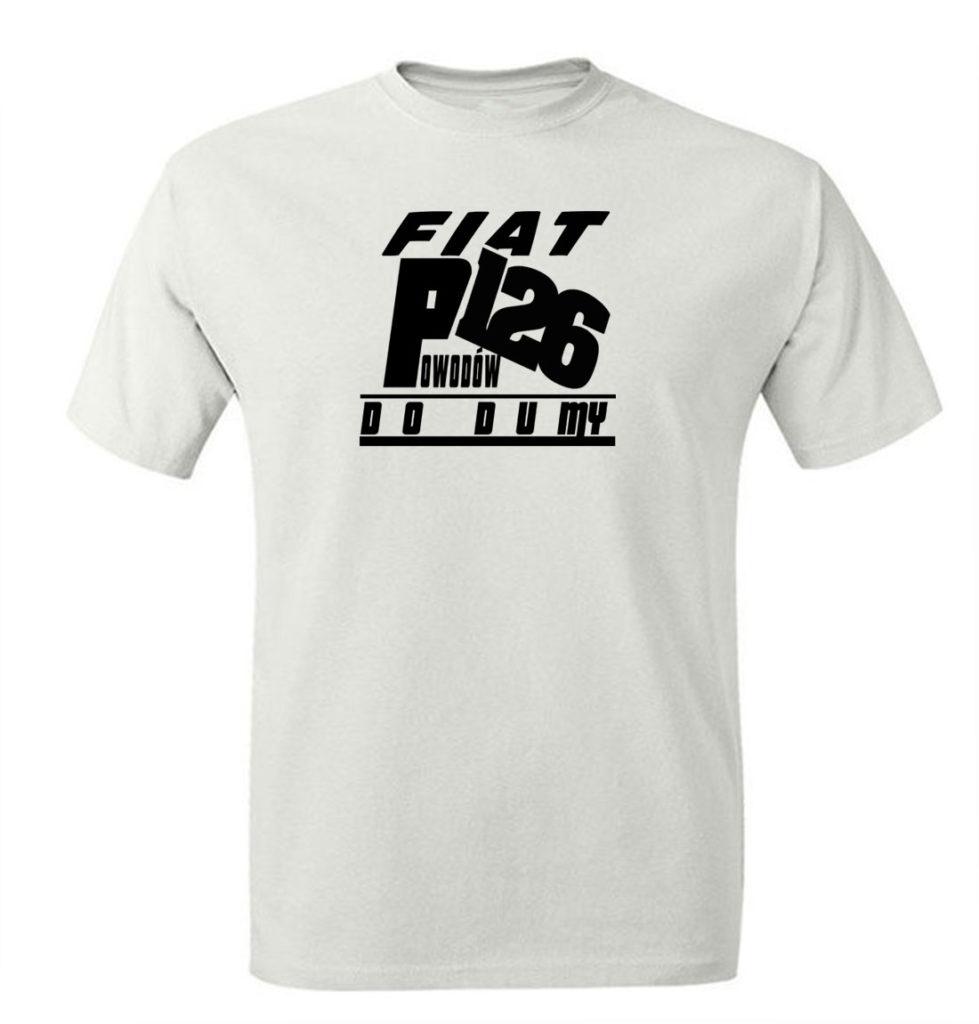 T-shirt męski fiat 126p maluch. Koszulka męska Maluch