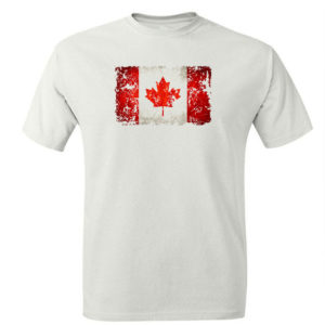 T-shirt z nadrukiem flaga Kanada