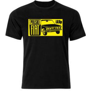 Fiat 125p t-shirt z nadrukiem, koszulka retro PRL