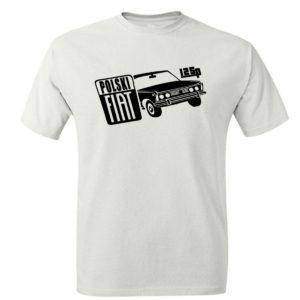 Fiat 125p koszulka męska z nadrukiem, koszulka retro PRL
