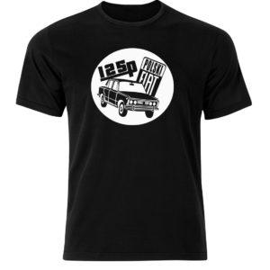 Koszulka męska. T-shirt z nadrukiem Fiat 125p, koszulka retro PRL