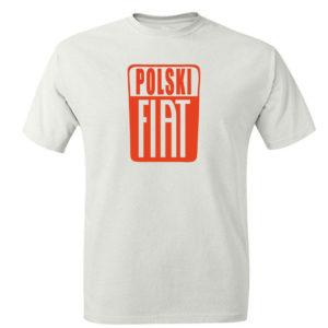 Męski t-shirt z nadrukiem POLSKI FIAT, koszulka retro PRL