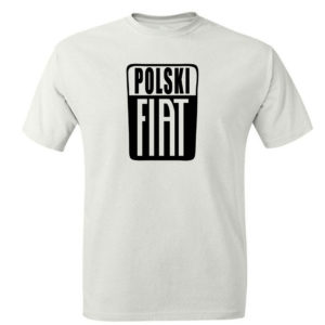 Męski t-shirt z nadrukiem POLSKI FIAT