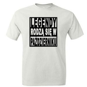 T-shirt urodzinowym koszulka legendy rodzą się w październiku
