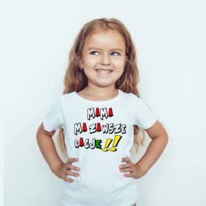 Koszulka dla dzieci z nadrukiem Mama Ma Zawsze Rację