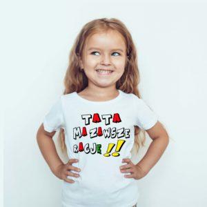 Ubrania dla dzieci / Koszulka dla dzieci z nadrukiem Tata Ma Zawsze Rację
