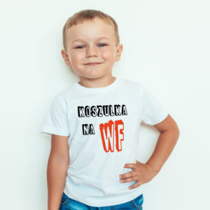 Ubrania dla dzieci, koszulka z nadrukiem dla dzieci koszulka na WF
