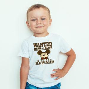 Ubrania dla dzieci / Koszulka z nadrukiem Wanted Dead Or Alive Myszka