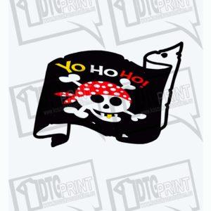 Ubrania dla dzieci, koszulka dla dzieci z nadrukiem Pirat