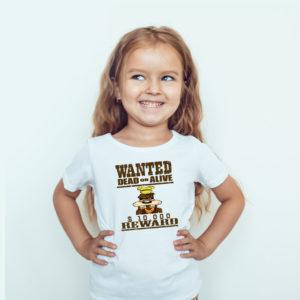 Ubrania dla dzieci, koszulka dla dzieci z nadrukiem wanted dead or alive goofy